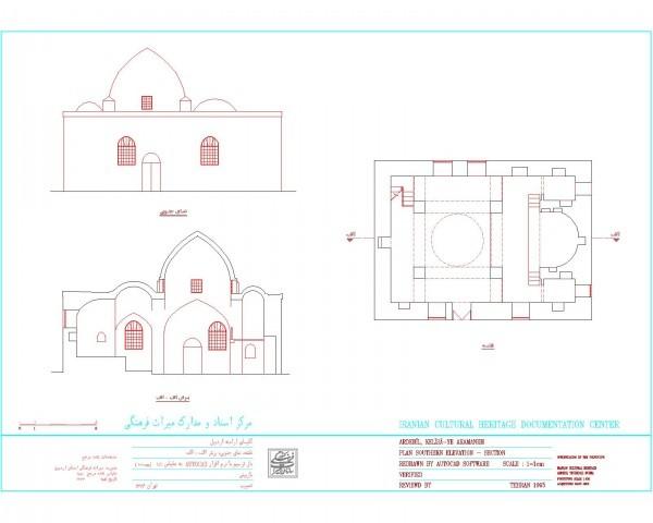 دانلود نقشه اتوکدی کلیسای قدیمی ارامنه اردبیل