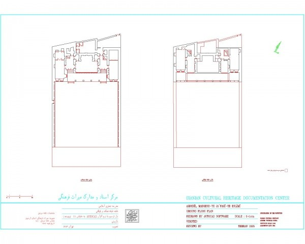 دانلود نقشه اتوکدی مدرسه قدیمی جعفری اسلامی اردبیل