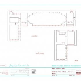 دانلود نقشه اتوکدی مدرسه قدیمی حکمت اردبیل