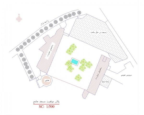 دانلود نقشه اتوکدی مسجد جامع بازار اردبیل