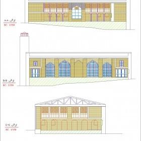 دانلود نقشه اتوکدی مسجد جامع نمین - اردبیل