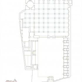 دانلود نقشه اتوکدی مسجد تاریخی میرزا علی اکبر اردبیل