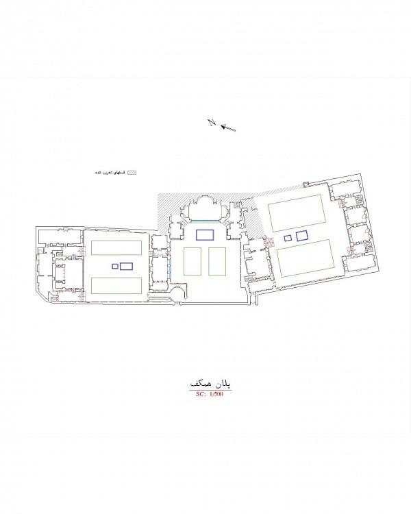 دانلود نقشه اتوکدی خانه تاریخی صادقی اردبیل