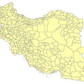 دانلود شیپ فایل GIS شهرستان های کل کشور