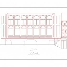 دانلود نقشه اتوکدی خانه تاریخی وکیل اردبیل