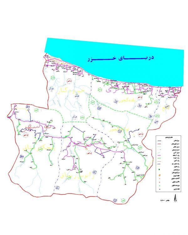 دانلود نقشه اتوکدی شهرستان نوشهر - استان مازندران