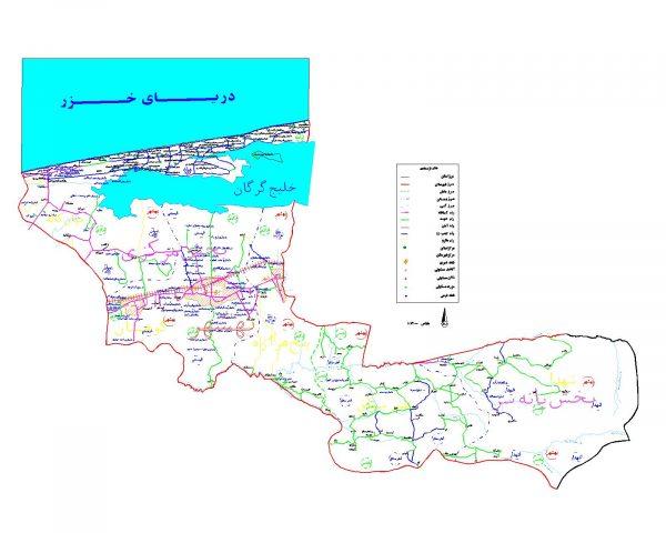 دانلود نقشه اتوکدی شهرستان بهشهر - استان مازندران