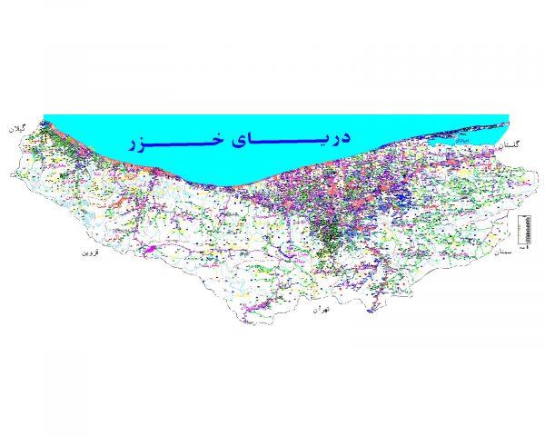 دانلود نقشه اتوکدی استان مازندران - کلیه شهرستانها