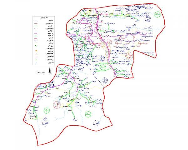 دانلود نقشه اتوکدی شهرستان سوادکوه شمالی - استان مازندران