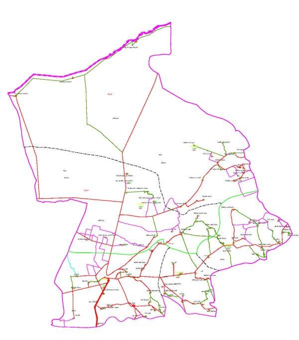 دانلود نقشه اتوکدی شهرستان آق قلا - استان گلستان