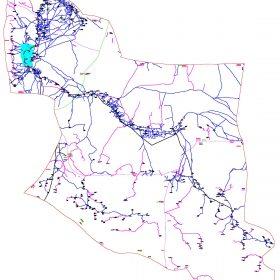 دانلود نقشه اتوکدی شهرستان قلعه گنج - استانکرمان