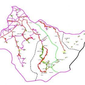 دانلود نقشه اتوکدی شهرستان مینودشت - استان گلستان
