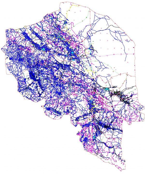 دانلود نقشه اتوکدی استان کرمان - کلیه شهرستانها