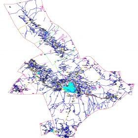 دانلود نقشه اتوکدی شهرستان رفسنجان - استان کرمان