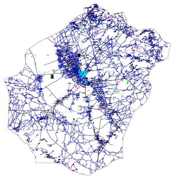 دانلود نقشه اتوکدی شهرستان سیرجان - استانکرمان