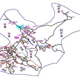 دانلود نقشه اتوکدی شهرستان ارسنجان - استان فارس