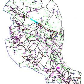 دانلود نقشه اتوکدی شهرستان بوانات - استان فارس