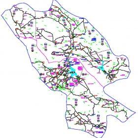 دانلود نقشه اتوکدی شهرستان فیروز آباد - استان فارس