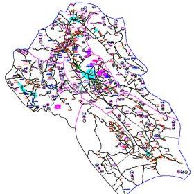 دانلود نقشه اتوکدی شهرستان کازرون - استان فارس