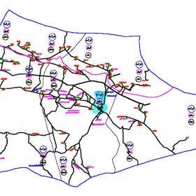 دانلود نقشه اتوکدی شهرستان خرامه - استان فارس
