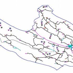 دانلود نقشه اتوکدی شهرستان خنج - استان فارس