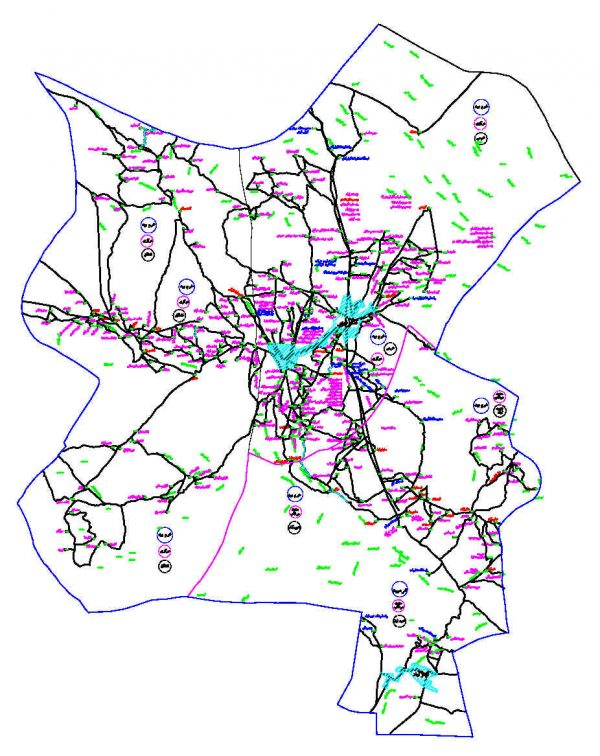 دانلود نقشه اتوکدی شهرستان خرم بید - استان فارس