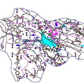 دانلود نقشه اتوکدی شهرستان شیراز - استان فارس