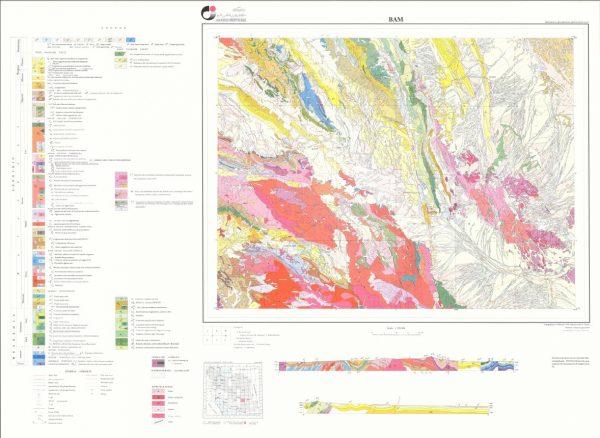 دانلود نقشه زمین شناسی منطقه بم - استان کرمان