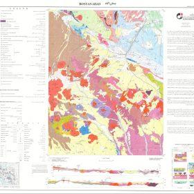 دانلود نقشه زمین شناسی منطقه بستان آباد - آذربایجان شرقی