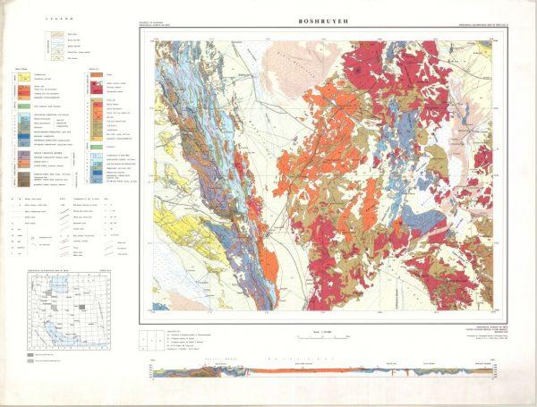 دانلود نقشه زمین شناسی منطقه بوشهر - استان بوشهر