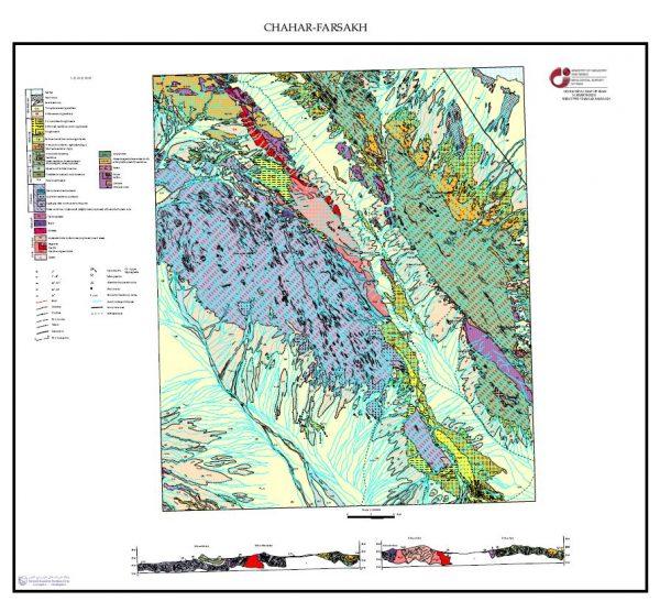 دانلود نقشه زمین شناسی منطقه چهار فرسخ - خراسان جنوبی