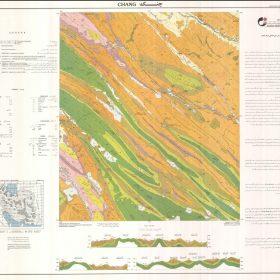 دانلود نقشه زمین شناسی منطقه چنگ - کهگیلویه و بویراحمد