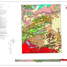 دانلود نقشه زمین شناسی منطقه چاپان - استان کردستان