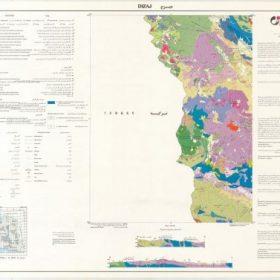 نقشه زمین شناسی دیزج - آذربایجان غربی - دانلود نقشه زمین شناسی