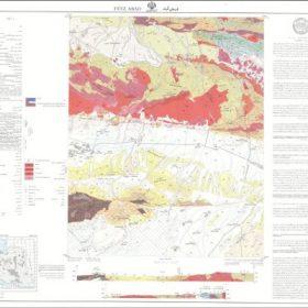 نقشه زمین شناسی فیض آباد - خراسان رضوی - دانلود نقشه زمین شناسی