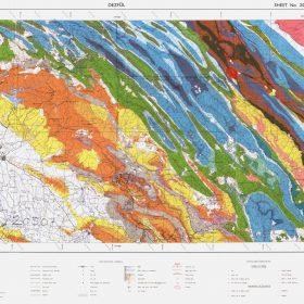 نقشه زمین شناسی دزفول - خوزستان - دانلود نقشه زمین شناسی