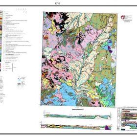 نقشه زمین شناسی گیوی - اردبیل - دانلود نقشه زمین شناسی