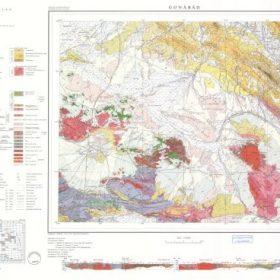 نقشه زمین شناسی گناباد - خراسان رضوی - دانلود نقشه زمین شناسی