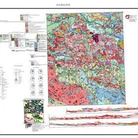 نقشه زمین شناسی هرسین - کرمانشاه - دانلود نقشه زمین شناسی