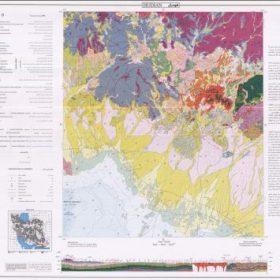 نقشه زمین شناسی هودیان - سیستان و بلوچستان - دانلود نقشه زمین شناسی