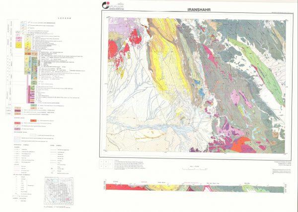 نقشه زمین شناسی ایرانشهر - سیستان و بلوچستان - دانلود نقشه زمین شناسی