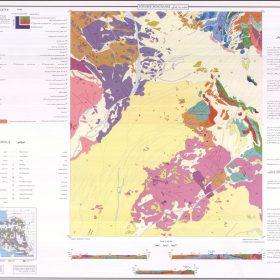 نقشه زمین شناسی جنوب سه چنگی - خراسان جنوبی - نقشه زمین شناسی