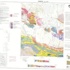نقشه زمین شناسی کدکن - خراسان رضوی - دانلود نقشه زمین شناسی