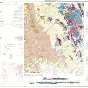 نقشه زمین شناسی کفه تاقستان - یزد - دانلود نقشه زمین شناسی