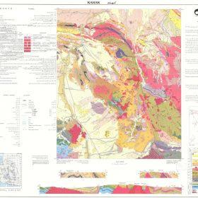 نقشه زمین شناسی کهک - قم - دانلود نقشه زمین شناسی