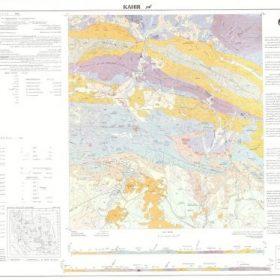 نقشه زمین شناسی کهیر - سیستان و بلوچستان - دانلود نقشه زمین شناسی