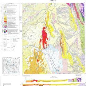 نقشه زمین شناسی کهورک - سیستان و بلوچستان - دانلود نقشه زمین شناسی