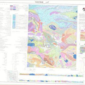 نقشه زمین شناسی کلیبر - آذربایجان شرقی - دانلود نقشه زمین شناسی
