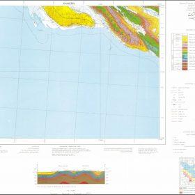 نقشه زمین شناسی کنگان - بوشهر - دانلود نقشه زمین شناسی