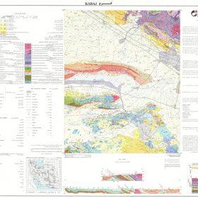 نقشه زمین شناسی کرج - البرز - دانلود نقشه زمین شناسی